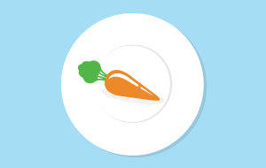 plate-with-carrot